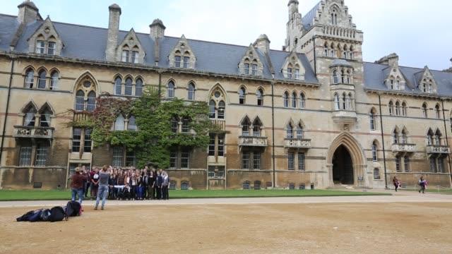 general views of the university museum or oxford natural history museum, oxford, uk. - オックスフォードシャー点の映像素材/bロール