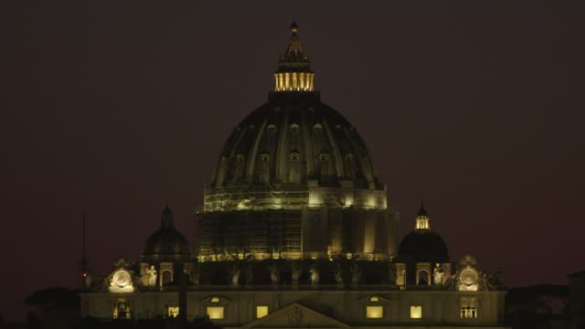 general views of the vatican at pope francis leads the stations of the cross on april 10, 2020 in vatican city, vatican. - pope stock videos & royalty-free footage