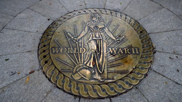 general views of the world war ii memorial on the national mall august 8 2016 in washington dc dedicated in 2004 the memorial features 24 bronze... - seal stamp stock videos and b-roll footage