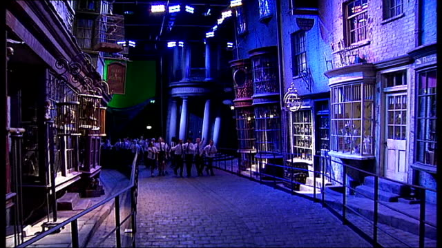 general views of 'warner bros. studio tour london: the making of harry potter'; england: hertfordshire: watford: leavesden: warner bros. studios: int... - warner bros stock videos & royalty-free footage