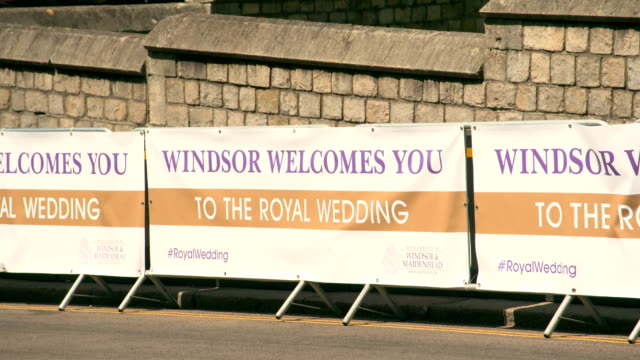 general views of windsor ahead of the wedding of prince harry to ms meghan markle at st george's chapel windsor castle on may 19 2018 in windsor... - ming stock videos & royalty-free footage