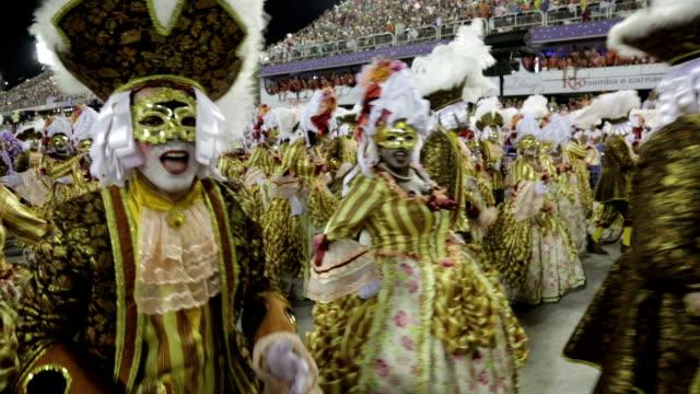general views rio carnival parade 2013 - samba school stock videos and b-roll footage