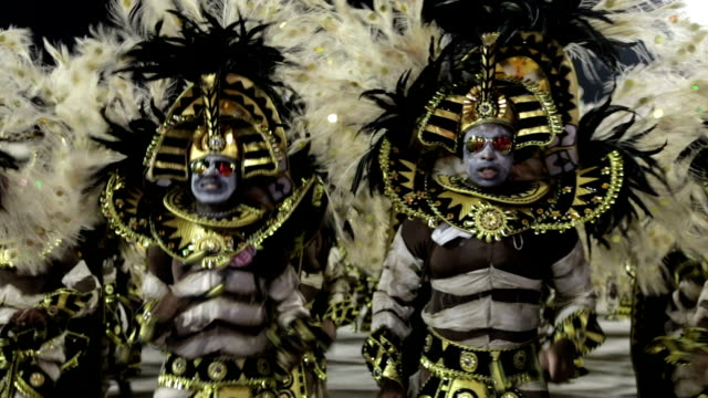 general views rio carnival parade 2013 - mardi gras stock videos and b-roll footage