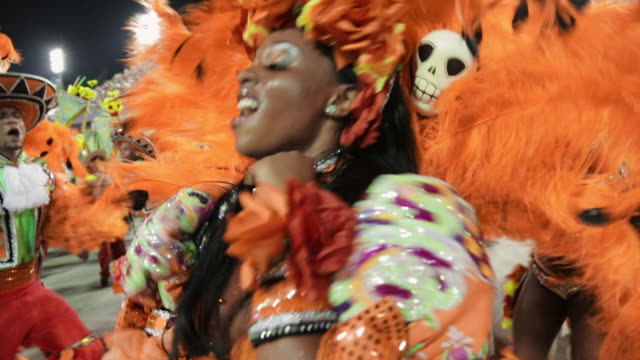 general views rio carnival parade 2013 - america latina video stock e b–roll