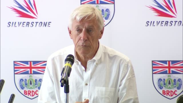 General views Silverstone race track and press conference INT Press conference begins / John Grant press conference SOT