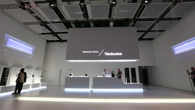 General views the Technics display stand a unit of Panasonic Corp on a media preview day ahead of the opening of IFA 2014 Consumer Electronics Fair...