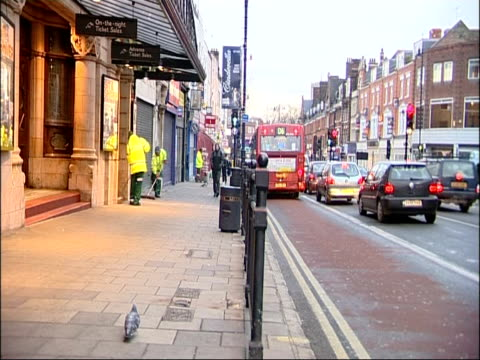 general views tony mcnulty mp minister for police and security on walkabout of hackney england london general views of street cleaners on the streets... - tony mcnulty stock videos & royalty-free footage