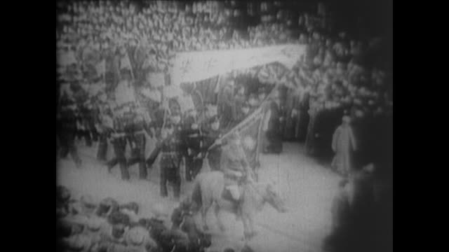 generalissimo chiang kaishek flies to xi'an where bodyguards of zhang xueliang and yang hucheng place him under house arrest forcing him to join the... - 1936 stock videos & royalty-free footage