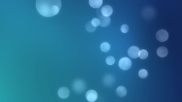 CG generated 3d seamless loop abstract background with geometry dots and shapes, slow motion bokeh