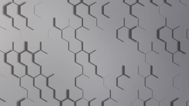 cg 生成されるジオメトリ ラインと図形と 3 d のシームレスなループ抽象的な背景 - フラクタル点の映像素材/bロール
