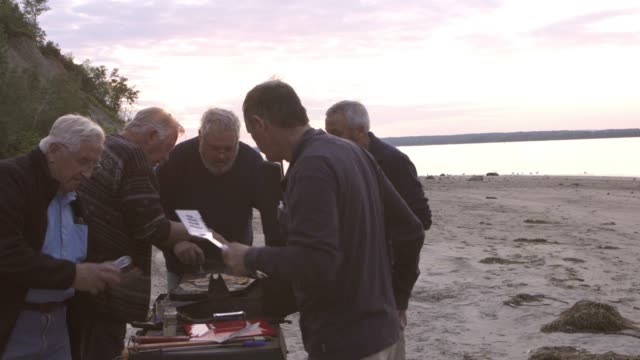 generation mature five brothers fishing trip big river - mature men stock videos & royalty-free footage