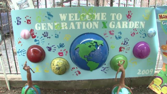 generation x community garden at the wilmer valderrama helps nyc kids plant community garden at new york ny - wilmer valderrama stock videos and b-roll footage