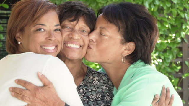 3 generations of woman in a family - grandmother stock videos & royalty-free footage