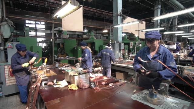 generator manufacture in kharkiv ukraine on thursday june 21 2018 - turbine stock videos & royalty-free footage