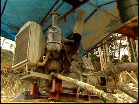 a generator powers an amazon gold mine - roraima state stock videos and b-roll footage