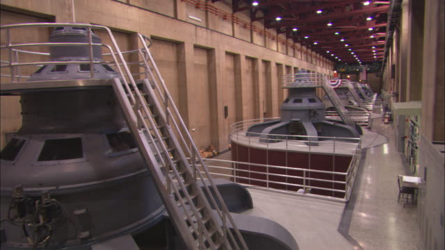 generators operate inside hoover dam. - power station stock videos & royalty-free footage