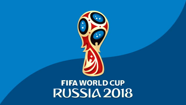 Generic animation of Fifa World Cup Russia 2018 with Official logo
