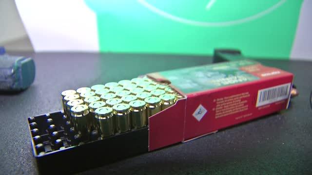 generic broll of ammunition and guns - gun stock videos & royalty-free footage