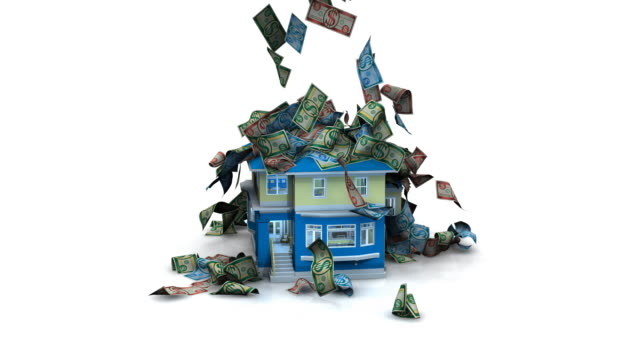 Generic Money falling on a House