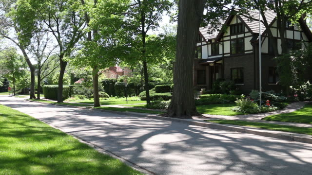 generic suburban homes and street scene - illinois stock videos and b-roll footage