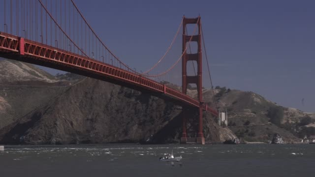 generic views of the golden gate bridge shot from the south east side and north east side in san francisco, california, shots of people walking along... - golden gate bridge stock videos & royalty-free footage