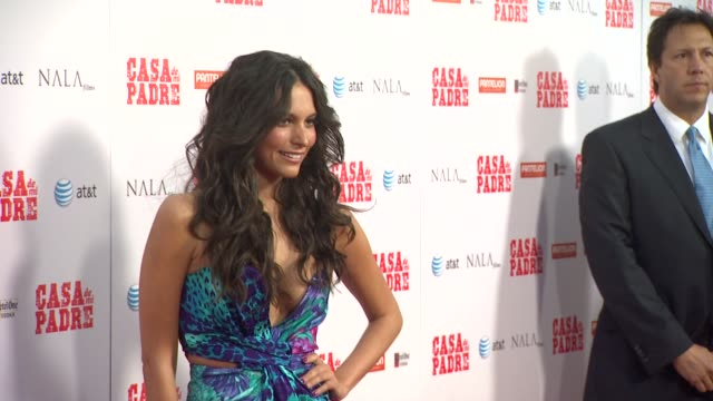 genesis rodriguez at casa de mi padre los angeles premiere on 3/14/12 in los angeles ca - padre stock videos & royalty-free footage