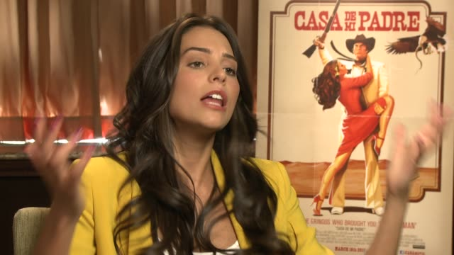 genesis rodriguez says she likes girls who are nice like elizabeth banks and anna kendrik at casa de mi padre new york press day on 3/10/2012 in new... - padre stock videos & royalty-free footage
