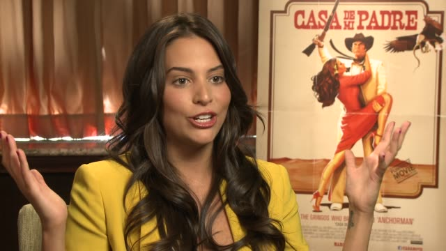 genesis rodriguez talks about her upcoming films 'what to expect when you're expecting' 'last stand' and 'hours' at casa de mi padre new york press... - padre stock videos & royalty-free footage