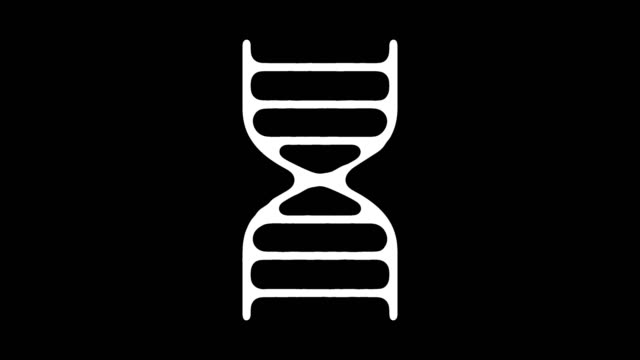 genetic engineering line icon animation with alpha - helix model stock videos and b-roll footage