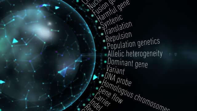 genetic terms - molecola video stock e b–roll