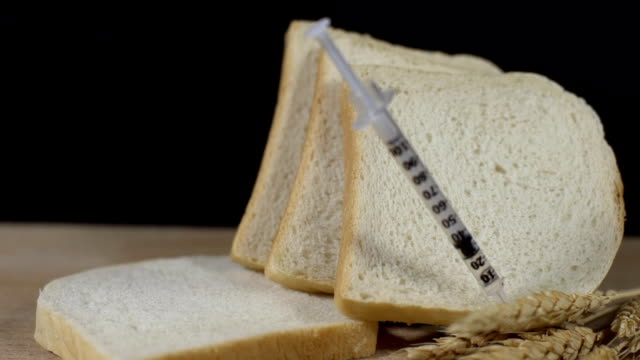 hd super slow-mo: genetically modifiying food - white bread stock videos and b-roll footage