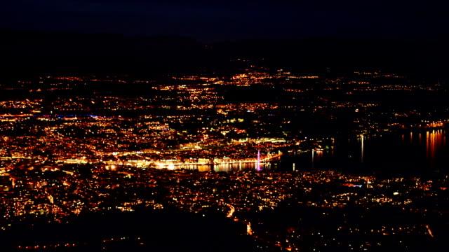 Geneva city at night