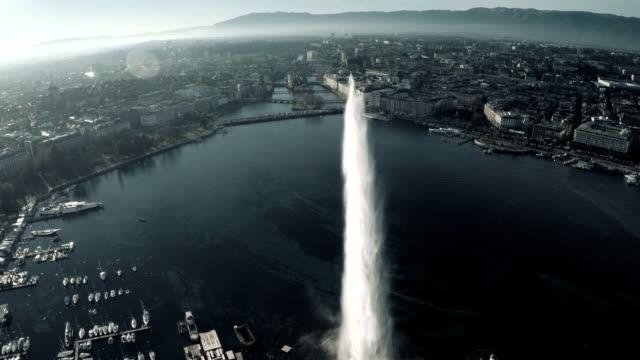 Genf Blick auf die Stadt von sky