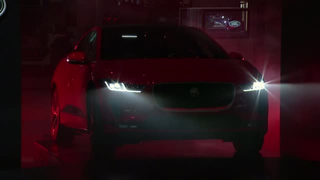 jaguar land rover worried about us tariff threat switzerland geneva geneva international motor show int **music heard intermittently sot** various of... - motor show stock videos and b-roll footage
