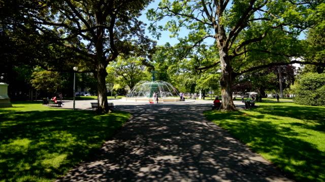 stockvideo's en b-roll-footage met genève, zwitserland: park in de lente - french overseas territory