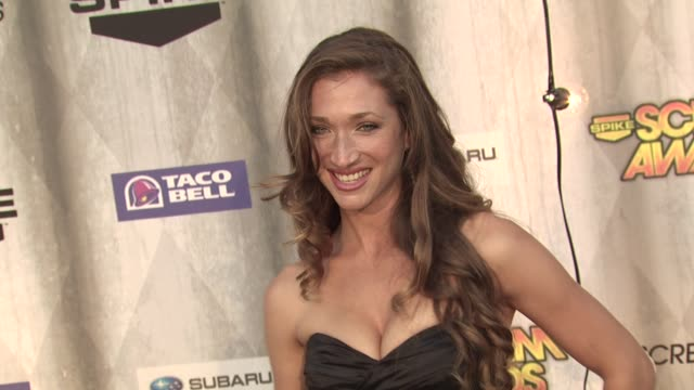 genevieve mishlen at the spike tv's 'scream awards at universal city ca - universal city stock videos & royalty-free footage
