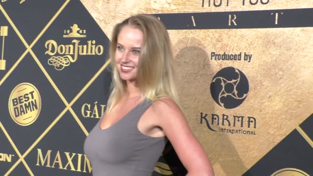 genevieve morton at the 16th annual maxim hot 100 party at the hollywood palladium at celebrity sightings in los angeles on july 30 2016 in los... - hollywood palladium stock videos & royalty-free footage