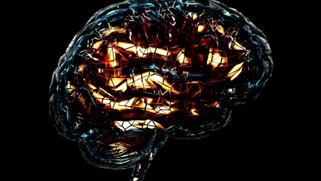 vídeos y material grabado en eventos de stock de genio mente en el trabajo - ciborg
