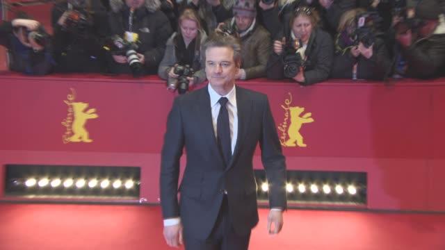 vídeos de stock, filmes e b-roll de clean 'genius' red carpet 66th berlin international film festival on february 16 2016 in berlin germany - colin firth