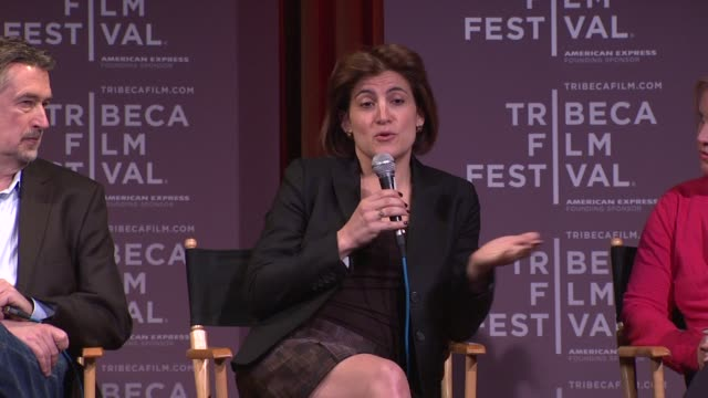 genna terranova on the festival's 3 sections at 2012 tribeca film festival - breakfast with the programmers on in new york - tribeca festival stock videos & royalty-free footage