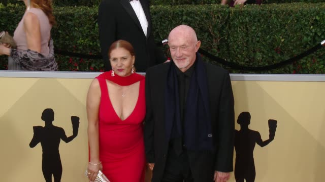 Gennera Banks and Jonathan Banks at the 24th Annual Screen Actors Guild Awards at The Shrine Auditorium on January 21 2018 in Los Angeles California