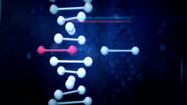 genome editing (verticale, scuro) - dna video stock e b–roll