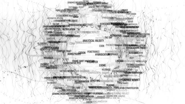 ゲノム用語 - 幹細胞点の映像素材/bロール