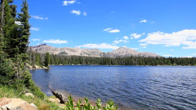 Gentle Breeze Blows Across Mountain Lake