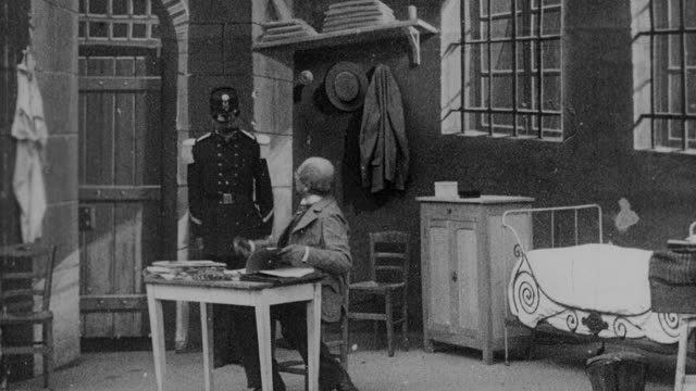 1899 b/w gentleman entertaining guests in his office - 1899 stock videos & royalty-free footage