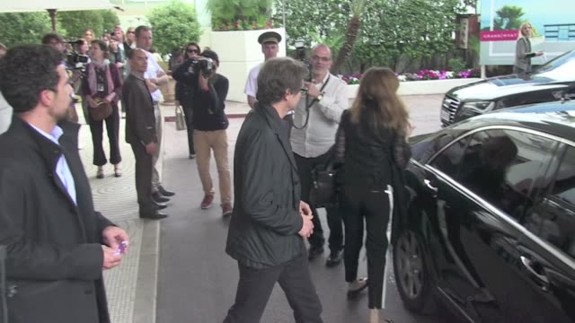 Gentleman handsome English actors Colin Firth apparently doesn't like to be mediatised as hides from fans and photographers leaving Hotel Martinez in...