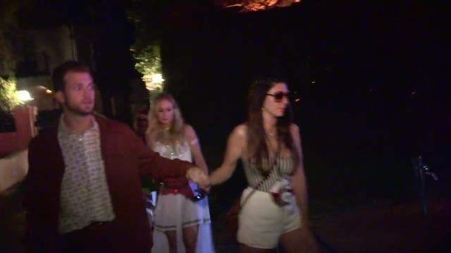Geoff Stults as a Alligator with friends departing a Halloween Party in Casamigos Tequila in Beverly Hills in Celebrity Sightings in Los Angeles