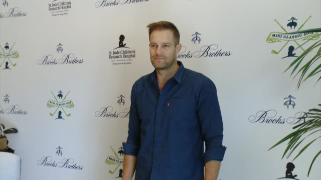 geoff stults at brooks brothers hosts mini classic golf tournament to benefit st jude children's research hospital at brooks brothers beverly hills... - st. jude children's research hospital stock videos and b-roll footage
