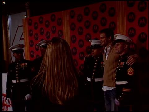 geoff stults at the motorola party at music box theatre in los angeles, california on december 2, 2004. - ジェフ スタルツ点の映像素材/bロール