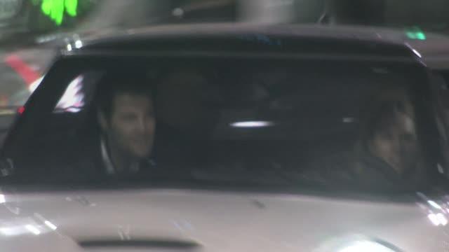 geoff stults leaving katsuya in hollywood at the celebrity sightings in los angeles at los angeles ca. - ジェフ スタルツ点の映像素材/bロール